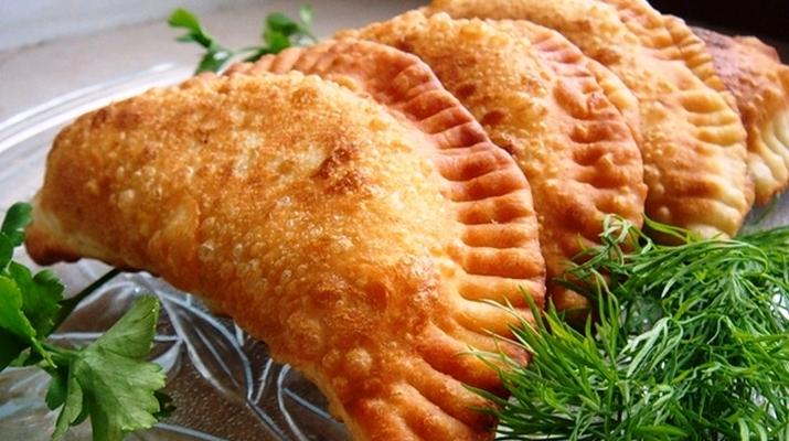 Чебуреки с сыром и курицей