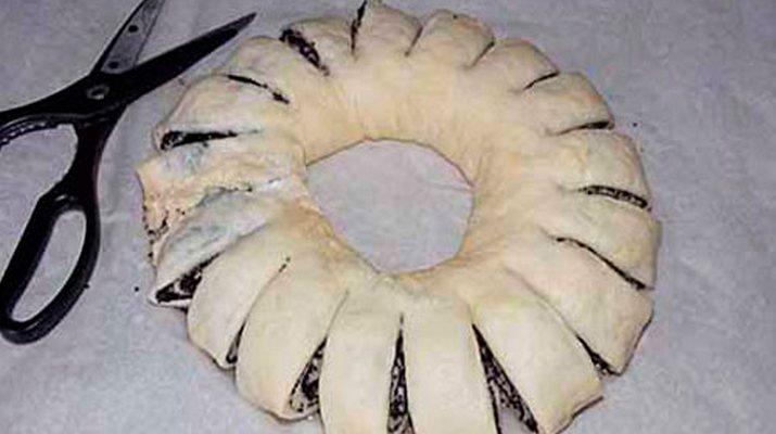 пирог мак ножницы