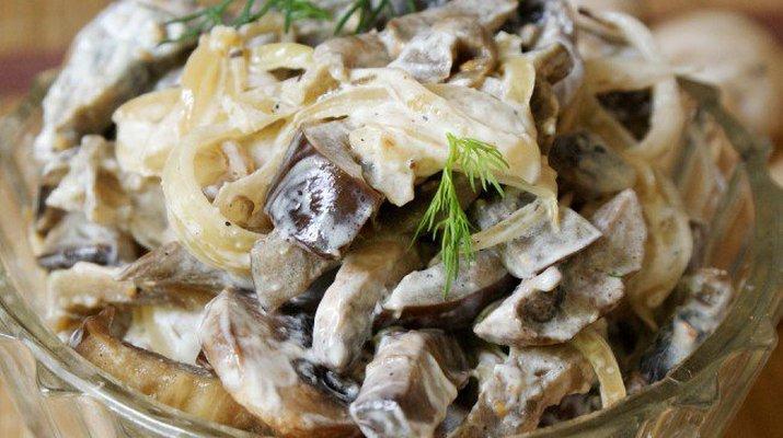 Салат из грибов и баклажанов