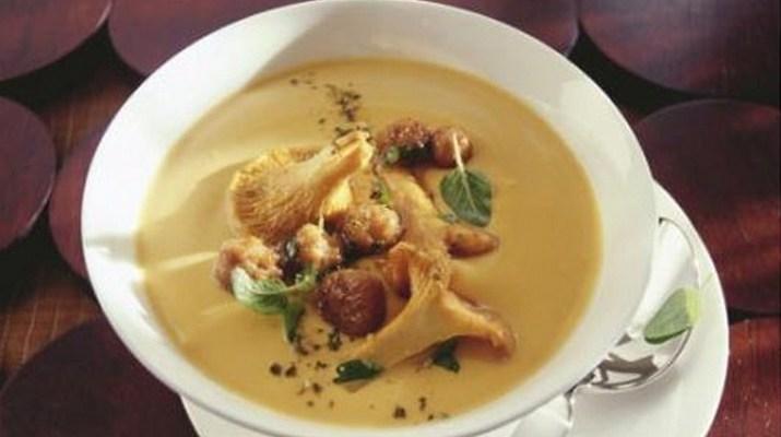 Суп пюре из кабачков и грибов