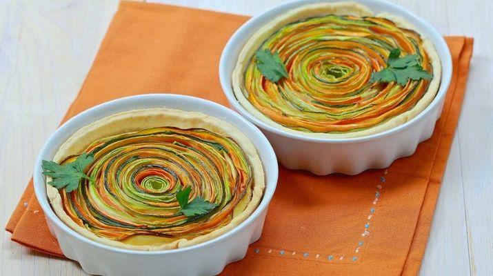 Грибные тарты с сливочно-сырным кремом