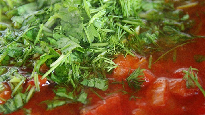 томат суп кабак