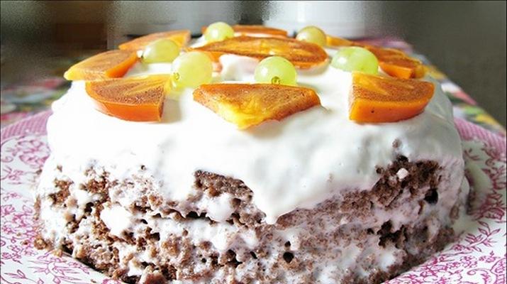 Бисквитный торт за 5 минут