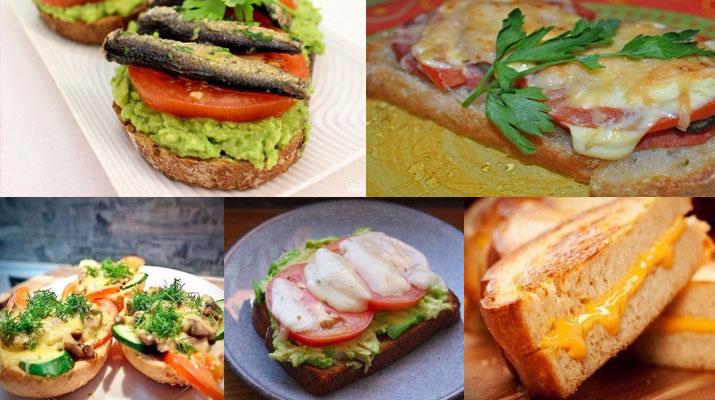 ТОП-5 горячих бутербродов