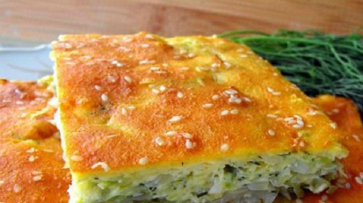 Пироги на кефире с капустой