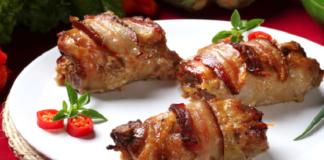 Курица, запеченная в лукошке
