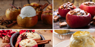Пирог из творога и яблок
