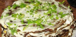 Яичный пирог из спаржи с укропом