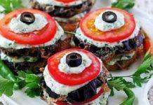 Закуска из красной рыбы и нежного сыра