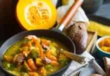 Моментальный летний суп из кабачков с карри
