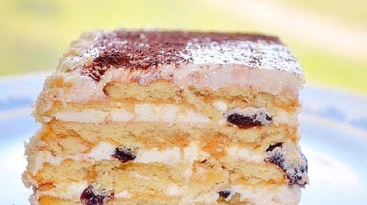 Многослойный торт без выпечки