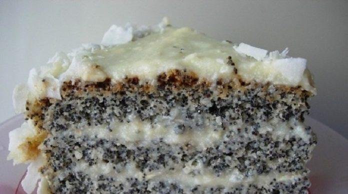 Маково-кокосовый пирог