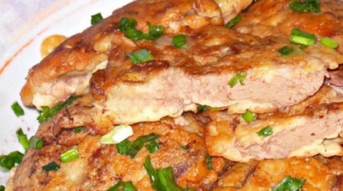 Нежная куриная печенка в сметанно-чесночном кляре