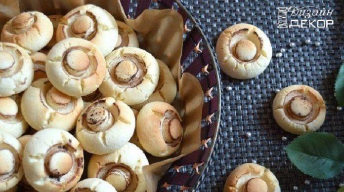 Оригинальный рецепт ароматного печенья с добавлением крахмала «Грибочки»