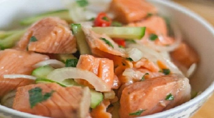 Салат из рыбы по-корейски