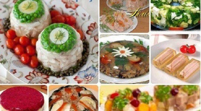 Великолепная подборка заливных блюд для новогоднего стола