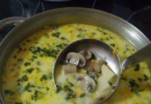 Оранжевый суп с яичной лапшой