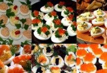 Помидор, фаршированный салатом