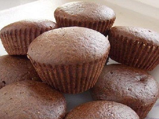 Постные шоколадные кексы