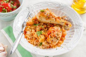 Куриные ножки с рисом