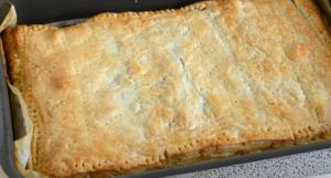 пирог рыбный из слоеного теста
