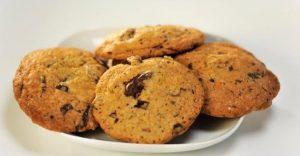 апельсиновое печенье с шоколадной крошкой