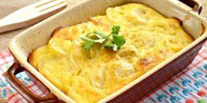 Картофельная запеканка с фаршем и сыром