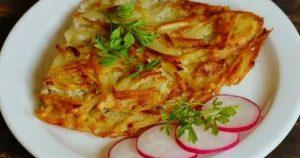 Хрустящий картофельный омлет