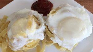 завтрак из макарон