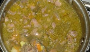 Суп с печенью