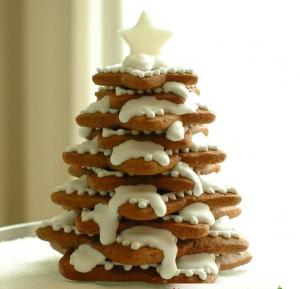 Сладкая елка из печенья